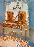 Satinwood Dressing-Table with Medallions