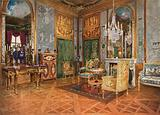 Salon de Musique of Queen Marie Antoinette, Palace of Fontainebleau, France. Carved and Gilt …