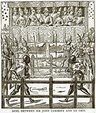 Duel between Sir John Carogne and Le Gris