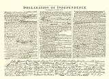 Facsimile of the Original Draft by Thomas Jefferson of the Declaration of Independence in Congress 4th July, 1776