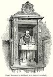 Stow's Monument, in the Church of St. Andrew Undershaft
