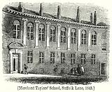 Merchant Taylor's School, Suffolk Lane, 1843