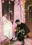 """""""The Richly Clad First Lord of the Bedchamber was kneeling by his Couch"""""""