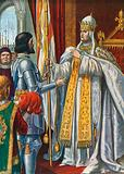 "Alberico da Barbiano receives a flag from Pope Urban VI saying ""Italy liberated from the Barbarians"", 1379"