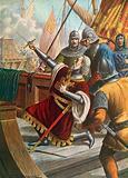 Luciano Doria killed in battle, 1379