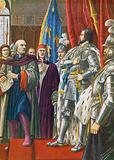 Pier Capponi rebuking the ambassador of Charles VIII