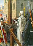 Savonarola, about to be burned alive, 1498