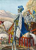 King Francis I of France surveying the Alps on 15 August 1515