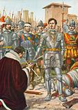 Francis I of France captured at the battle of Pavia in 1525