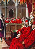 Morosini being tried after having handed over Crete to the Ottomans