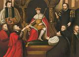 King Edward VI confirming his father's gift of Christ's Hospital to the City of London