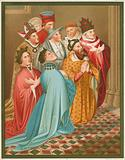 Ferdinand I, king of Arragon, his Queen, the Emperor Sigismund, and Pope Martin V