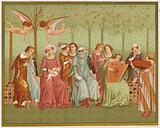 The Dream of Life. Italian costume of the 14th century