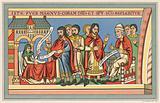 Birth of John the Baptist, reflecting costume of the 12th century