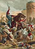 El Cid threatening the city of Valencia