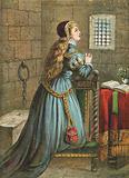 Lady Jane Grey praying