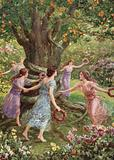Perseus saw them dancing around the charmed tree. From How Perseus slew the Gorgon