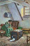 Illustration for Little Women by Louisa M Alcott