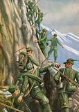 Heroic Italian mountain troops