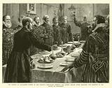 The Opening of Parliament, Yeomen of Her Majesty's Body-Guard drinking the Queen's Health after …