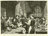 """Crumbs from the Rich Man's Table"", Distributing Food to the Poor at Guildhall after the Lord Mayor's Banquet"