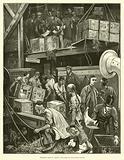 Breaking Bulk on Board a Tea Ship in the London Docks