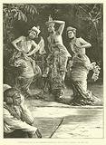 Burmese Ballet Girls as they performed before the Viceroy of India at Rangoon