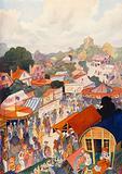 The annual fair visits a country village