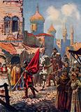 The return of Ivan the Terrible to Moscow after the conquest of Kazan
