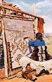 Weaving Navaho blankets