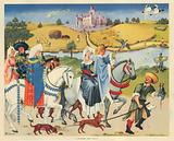 A Falconry party 15th Century
