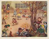 Boy's sports late 17th Century