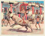 Theseus and the Bull Dance in ancient Crete