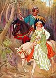 Princess Olwen accompanied by the Pig-sty Prince