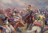 The Charge of the Heavy Brigade against the French Cuirassiers at Waterloo