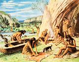 Cave people of the old stone age
