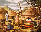 Preparing Mealies in east Africa