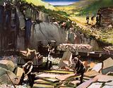 At Welsh slate quarry