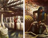 At a Bristish rope works