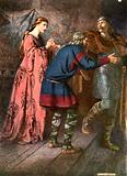 Laertes saying farewell to Ophelia