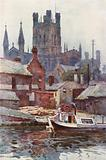 Chester Cathedral from the Canal