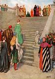 Dante and Beatrice First Meeting. Dante. Purgatorio.