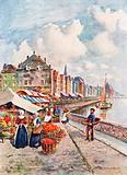 On the Quays of the Meuse, Liege