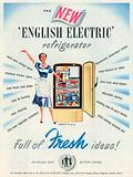 English Electric Refrigerator Advertisement, 1954