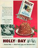 Holly Brand Stoned Raisins Advertisement, 1955