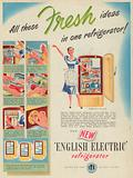 English Electric Refrigerator Advertisement, 1951