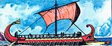 Greek Trireme under Sail