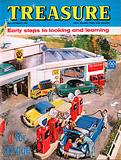 """g"" for garage shows a typical service station with four red petrol pumps"