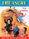 """h"" for happiness shows children playing in a haystack"