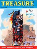 Scottish piper in ceremonial dress